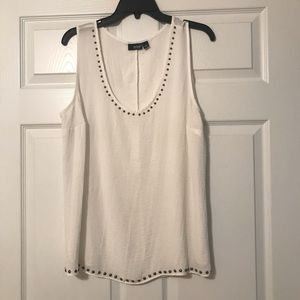 Ivory tank top with studs